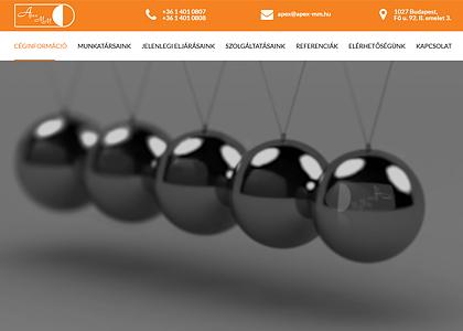 Apex-MM weboldal video-fejléc