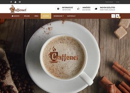 Caffenet webáruház video-fejléc