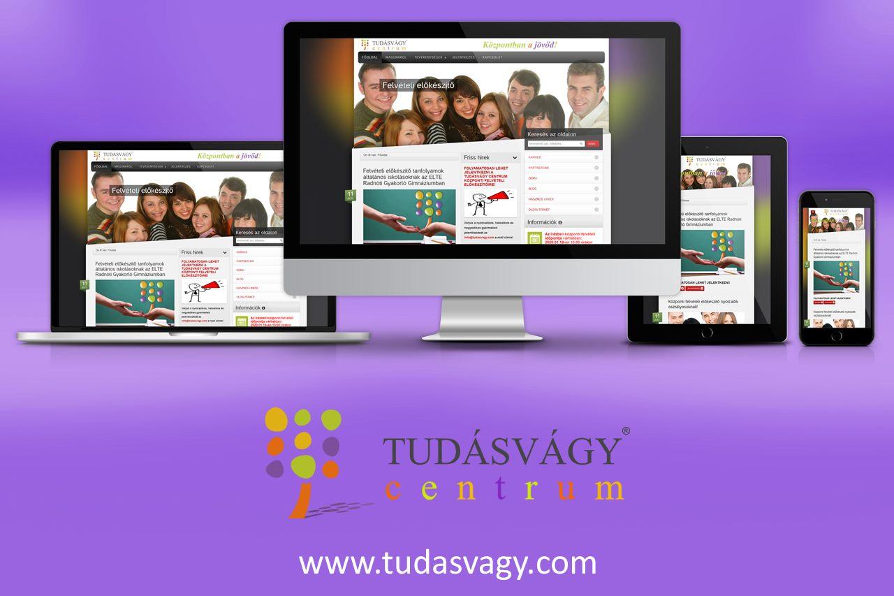 Tudásvágy Centrum reszponzív weboldal